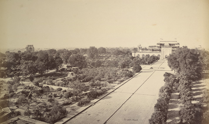 The mausoleum of Akbar at Secundra near Agra.